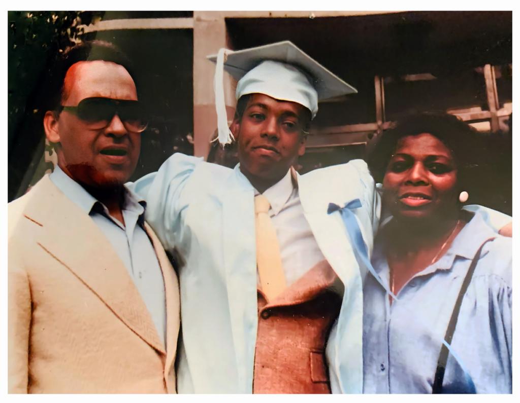 Chris S. Graduation with parents