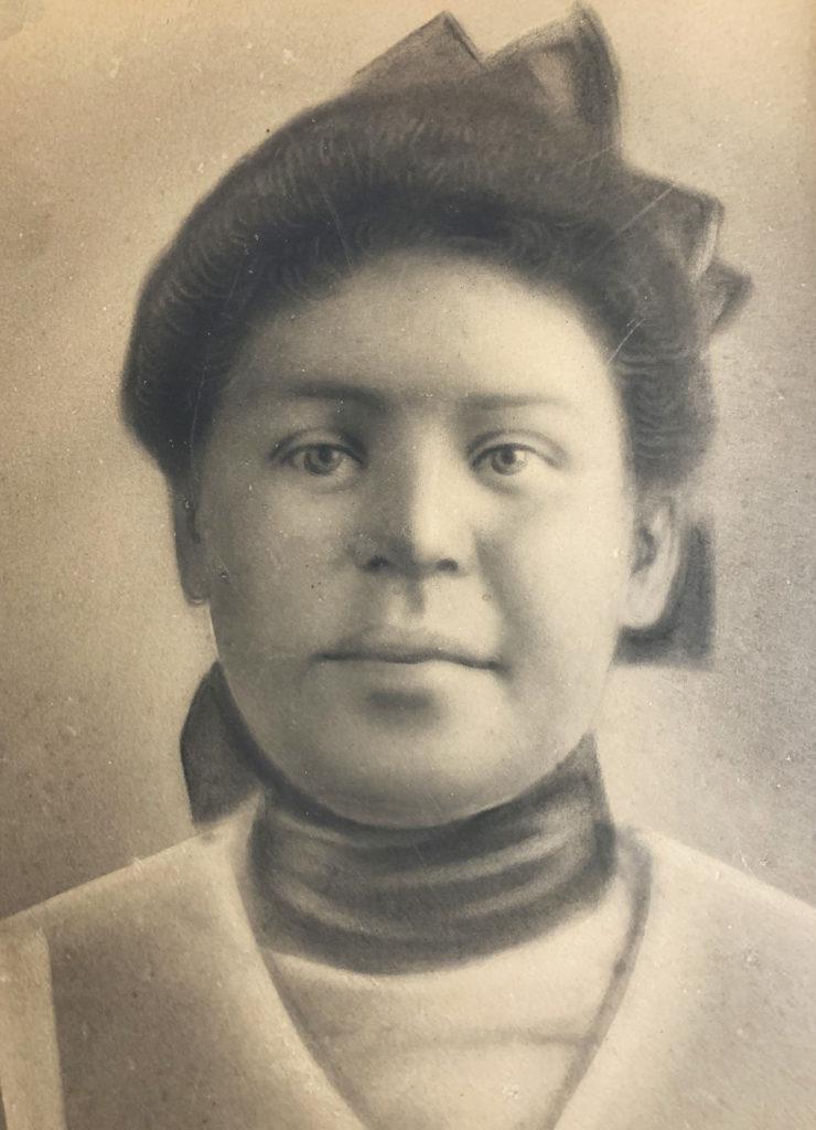 6. Unknown Girl -Crayon Portrait