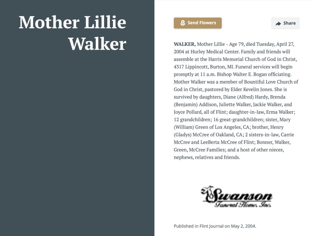 Lillie McCree walker