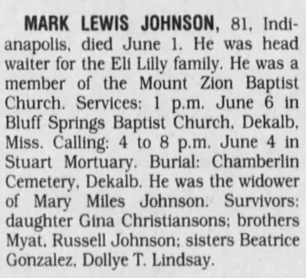 Mark Lewis Johnson 7-3-1998 Indianapolis Star