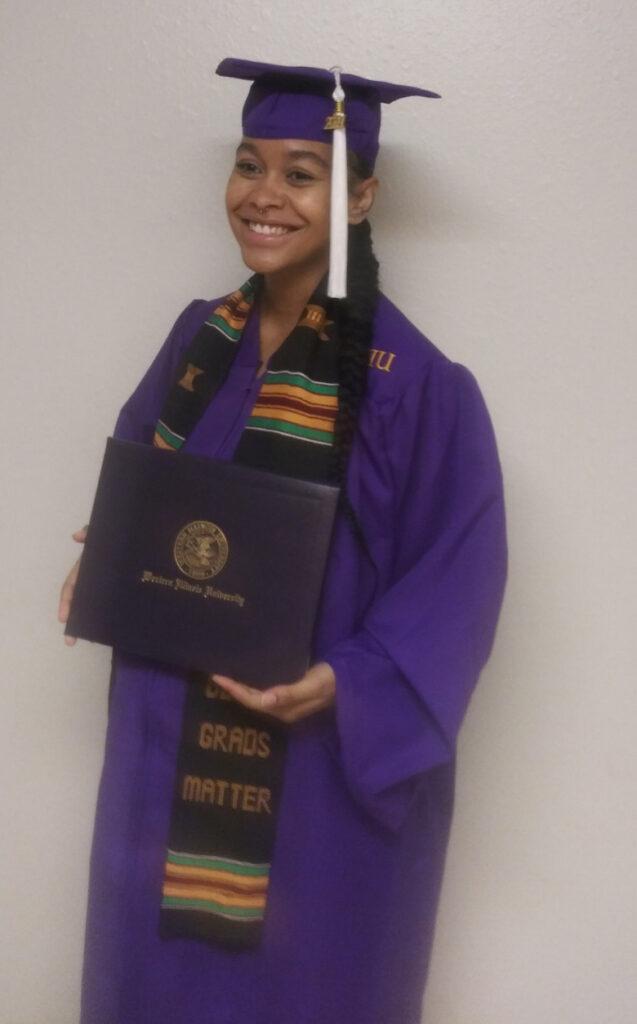 Ashley graduated 5/15/21 from Western Illinois University