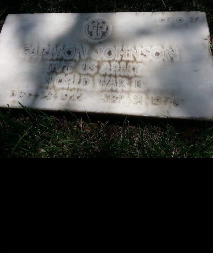Farman Johnson gravestone