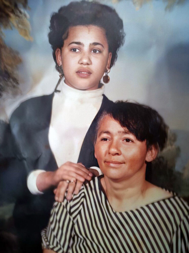 Ludean Brown Gully and Edwina- Helen E Brown youngest daughter of Roberta Lampley-shared by Diane