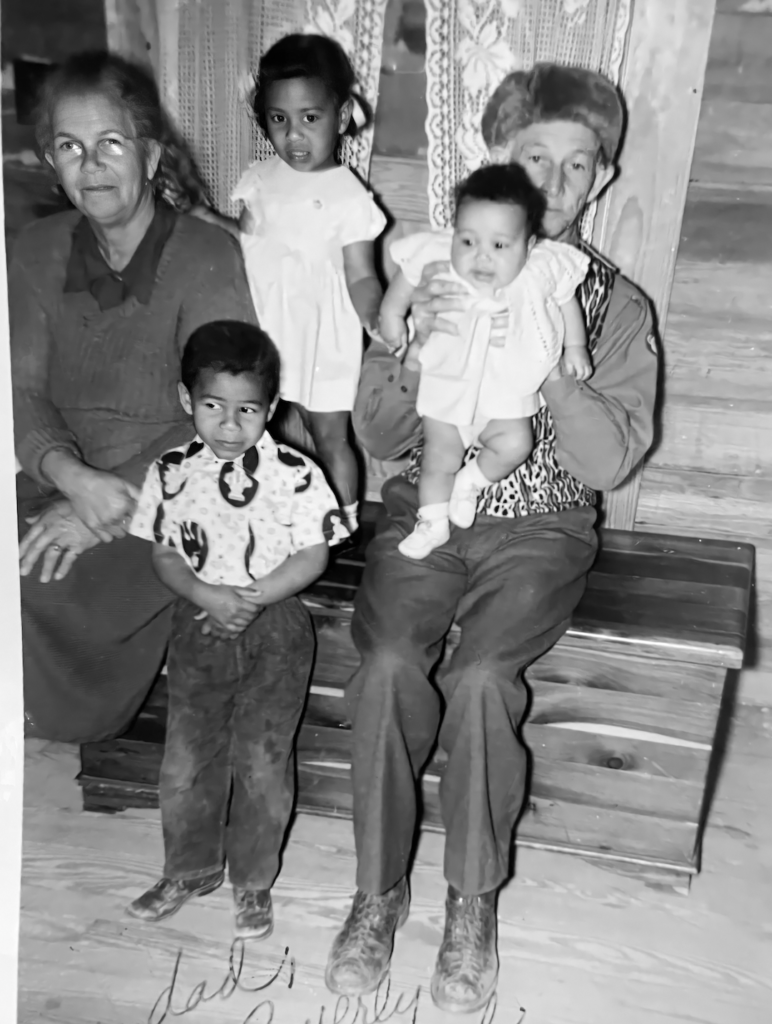 Buford, Bessie, Byron, Beverly and Carmel. Shared by Alonna restored by emp