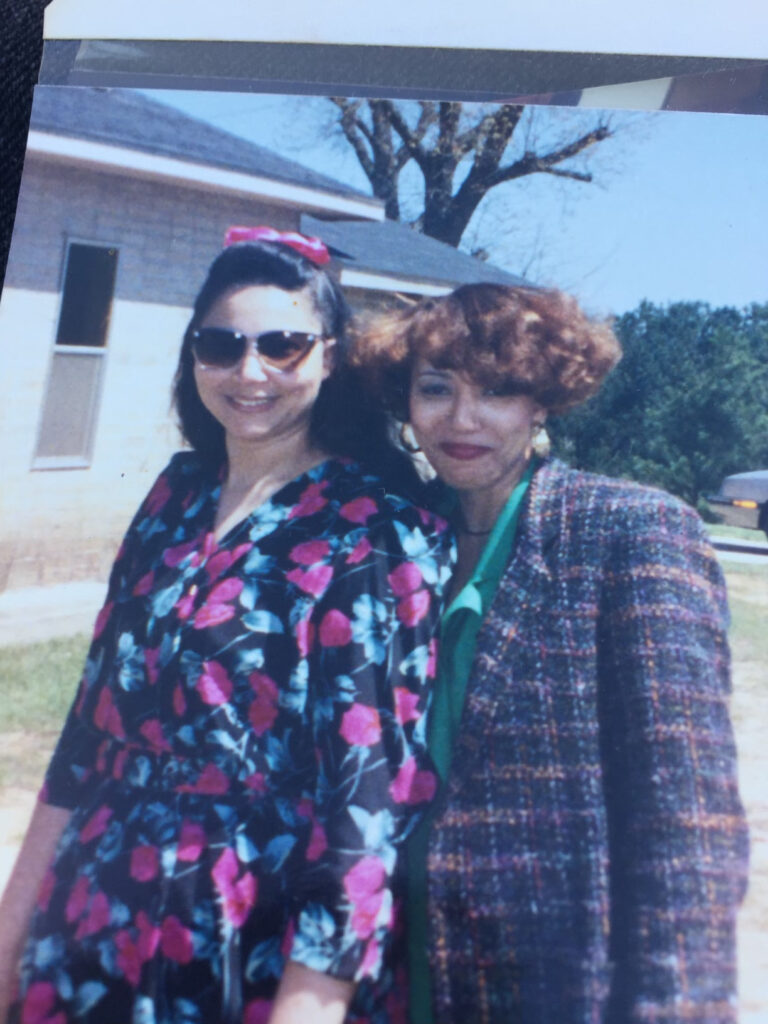 Diane and Margie Ann Woods daughters of Helen and Linnie Ozema Hampton Woods Shared by Diane