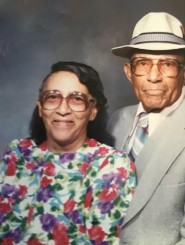 Shared by Diane: Linnie O Hampton Woods and Albert Woods